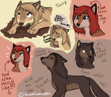 Wolves doodles o3o by Suzukiwee1357