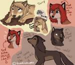 Wolves doodles o3o