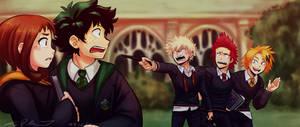 BNHA AU: At Hogwarts
