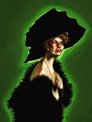 Mrs Black - portrait2 by martinacecilia
