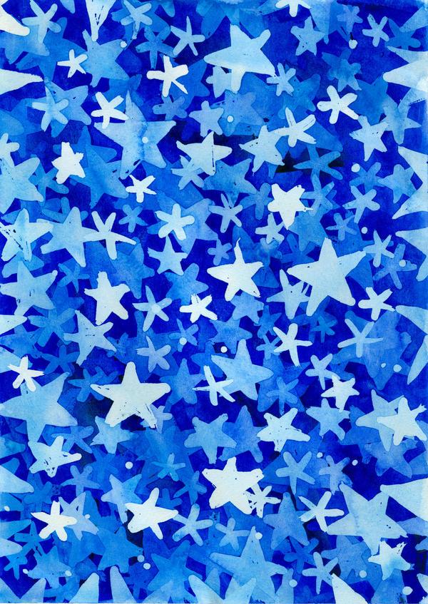 Watercolor texture - stars