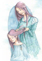 Catelyn and Sansa by martinacecilia