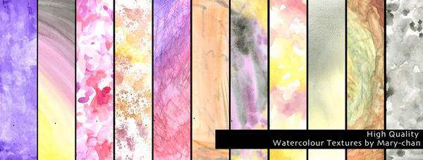 Watercolor texture pack - high quality by martinacecilia