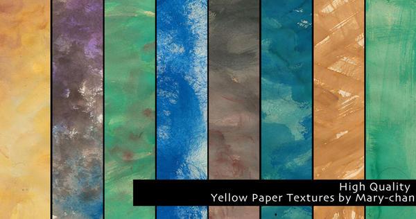 Yellow Paper Textures