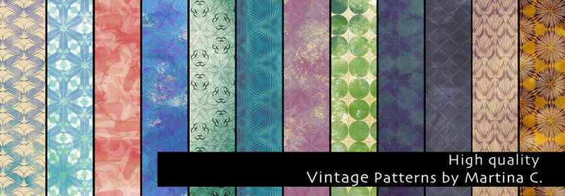 Vintage patterns pack - High quality by martinacecilia