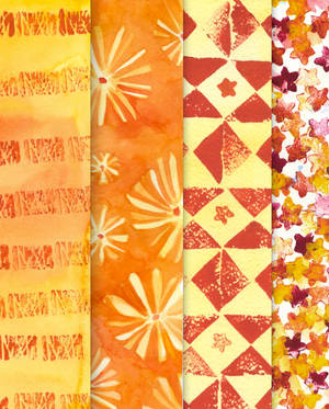 Orange geometry pattern pack