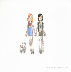 LBD - Kitty, Lydia and Mary by martinacecilia
