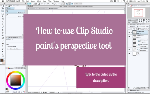 Clip Studio Paint perspective tool - videotutorial by martinacecilia