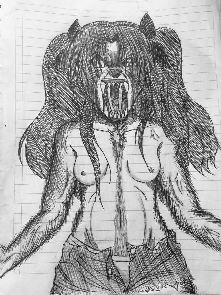 Rin Tohsaka Werewolf by PerfectDuwang
