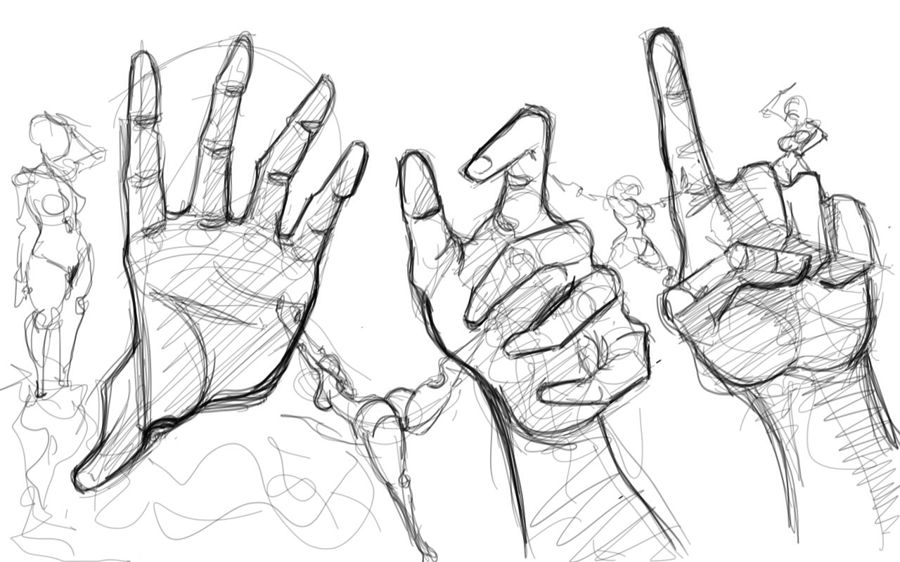 D Line Drawing Hand : Hand drawing practice by koricthegreat on deviantart