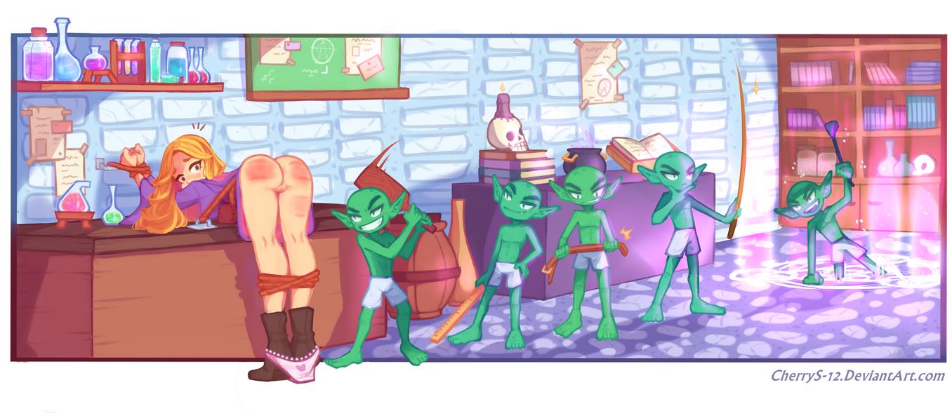 Estelle's spanking - Commission by CherryS-12