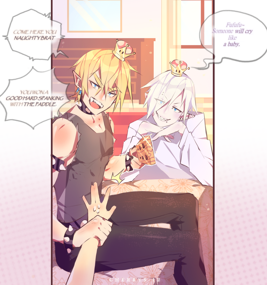 Bowsette and Boosette spanking you - Genderbend by CherryS-12