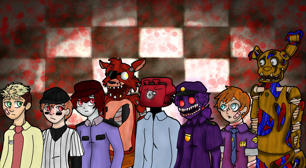Five Nights At Freddys Characters By Anime Greek