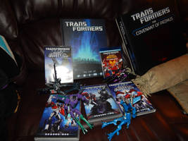 My collection of Transformers Prime DVDs and Books