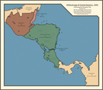 Political map of Central America in 1901