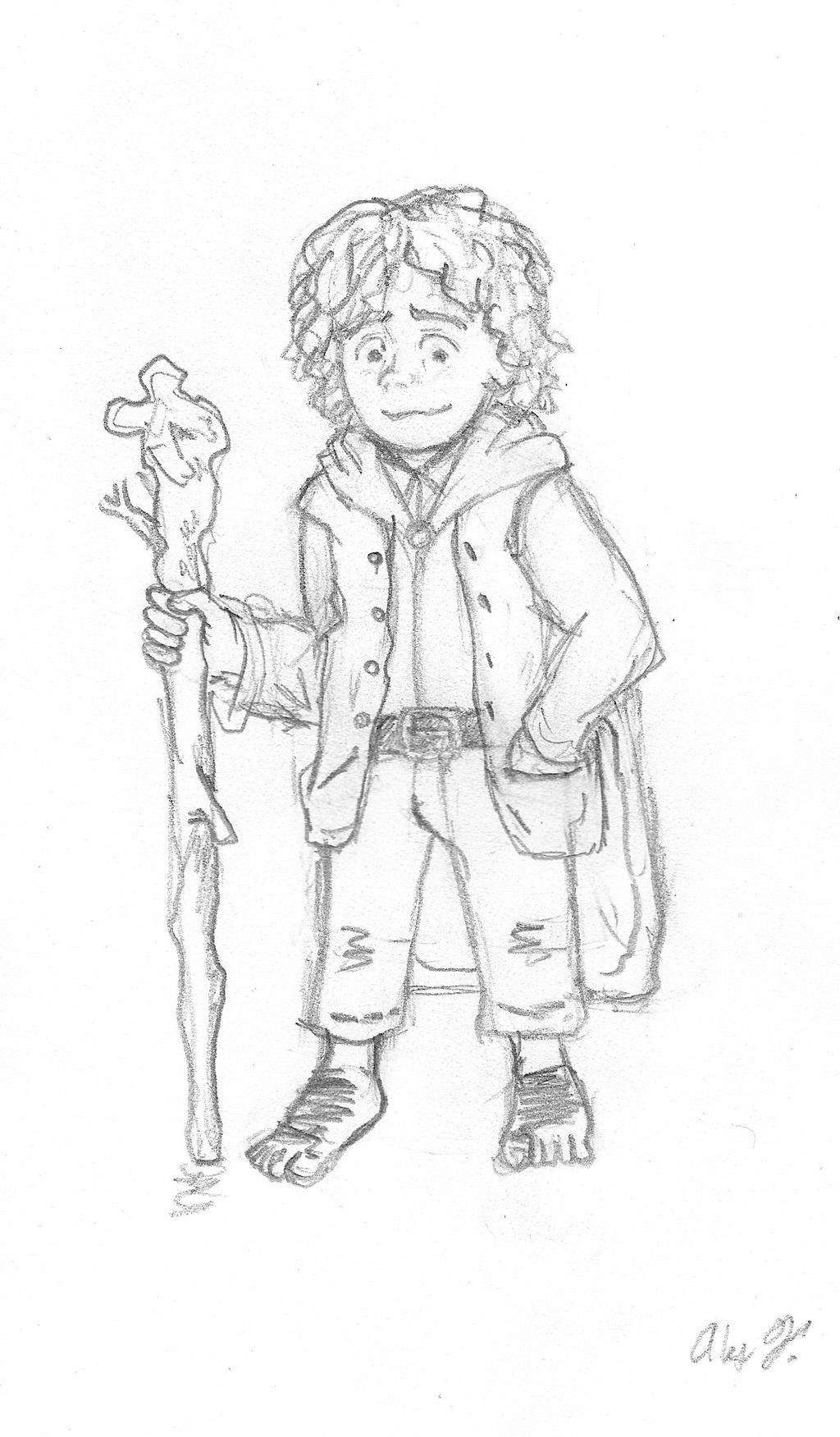 Day 6: Bilbo Baggins by axelintu