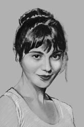 Sketch Study: Mary Elizabeth Winstead by axelintu