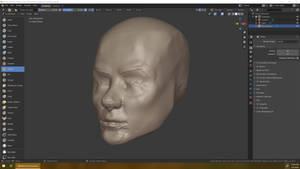 2020-03-05 head sculpt 1hr