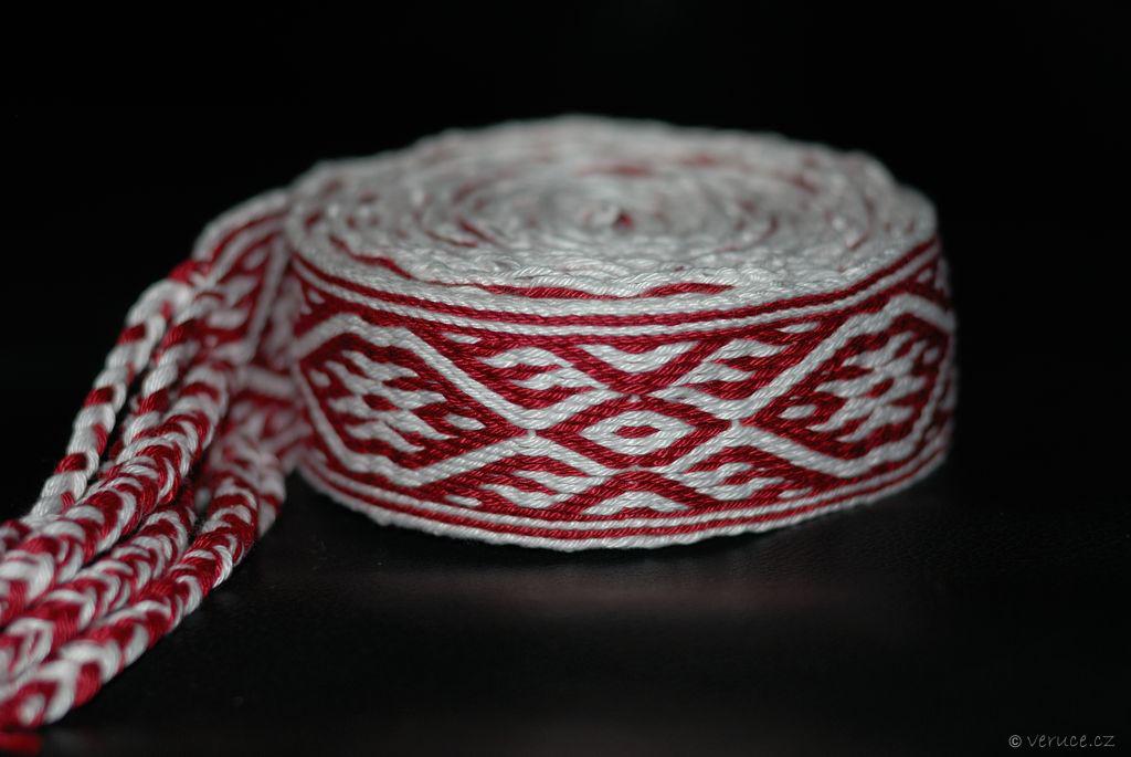 Karetkový pás - tkaní na karetkách