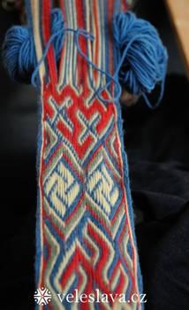 Snartemo tablet weaving WIP 2
