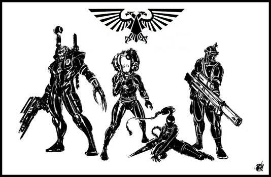40k Assassins by IronShrineMaiden