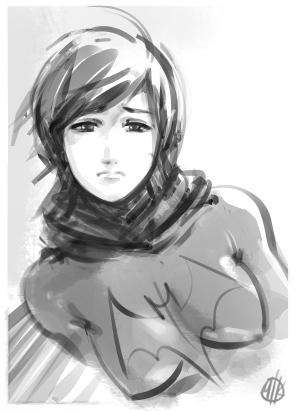 Cassie Cain sketch by IronShrineMaiden