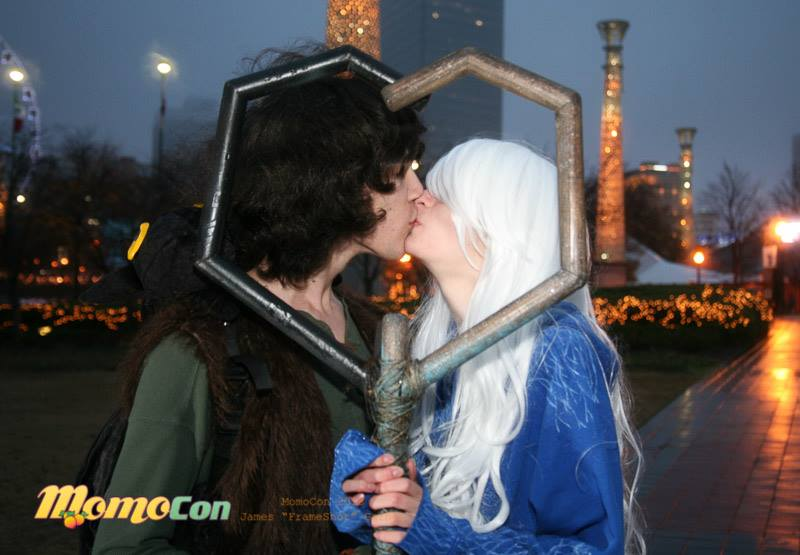 Hiccup And Jack Frost (fem) Sharing A Kiss By Ducktape1 On