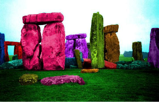 Psychedelic Stone Henge by xrockxxandxxrollerx
