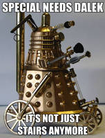 Special Needs Dalek by xrockxxandxxrollerx