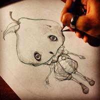 Mr. Pear Sketch by NobuHappySpooky