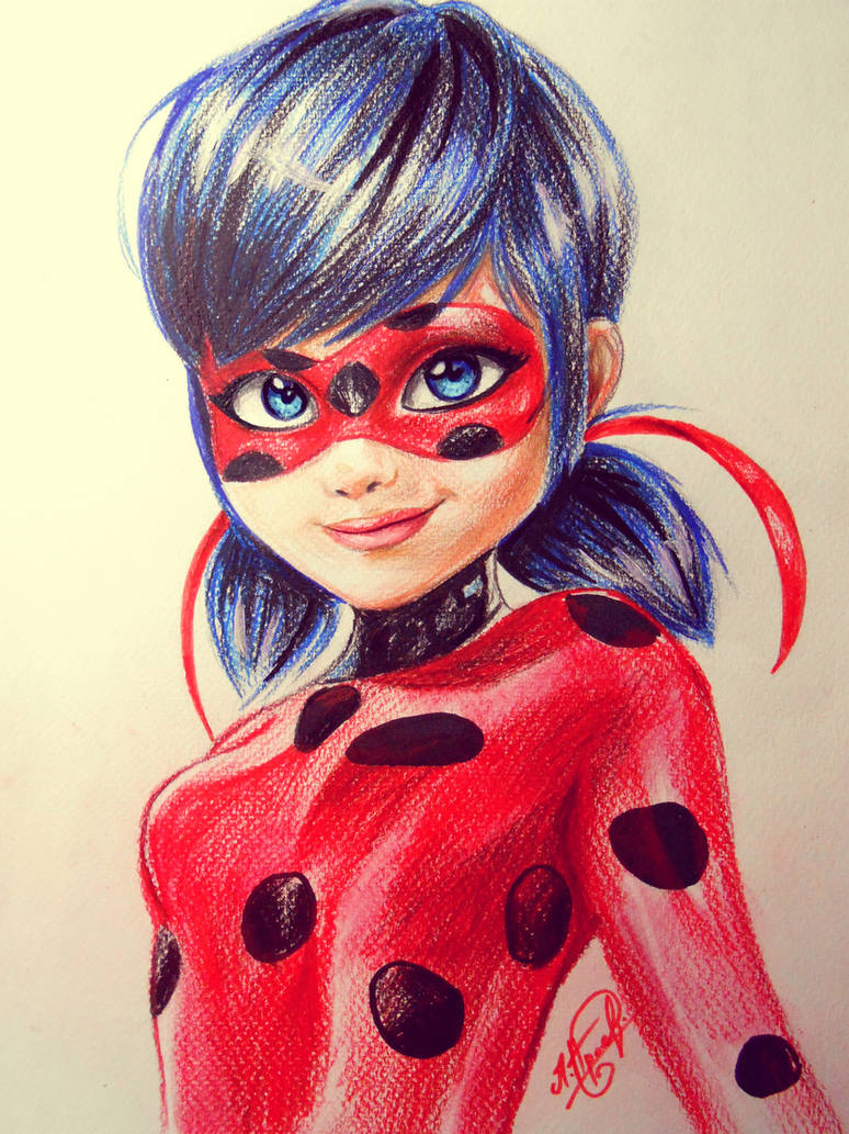 Realistic ladybug drawing - photo#54