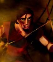 Sindbad defends his boat. by AlexVAM