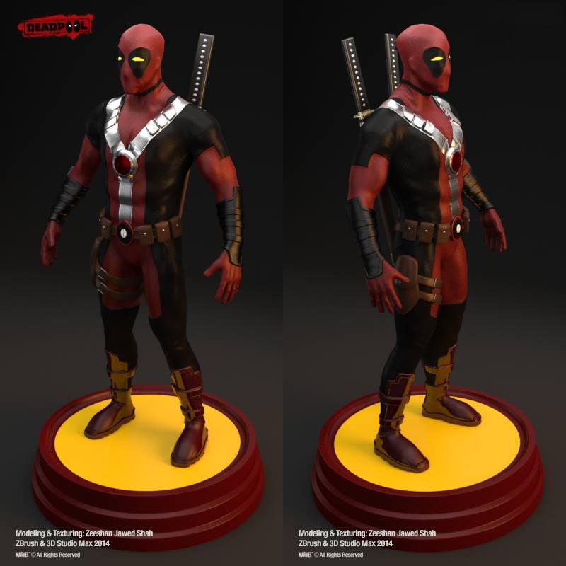 Deadpool 3D Character by venomx