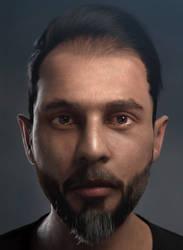 3D Self Portrait Closeup Version