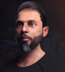 3D Self Portrait Side View Version