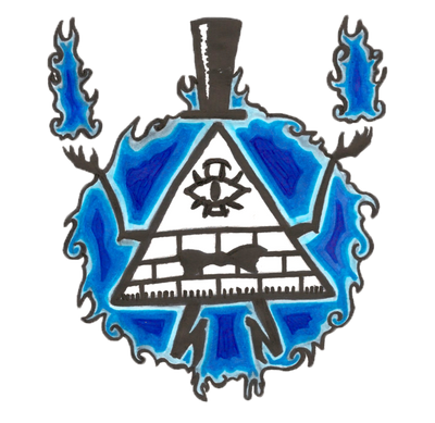 Bill Cipher Tattoo Design by VernFeathers