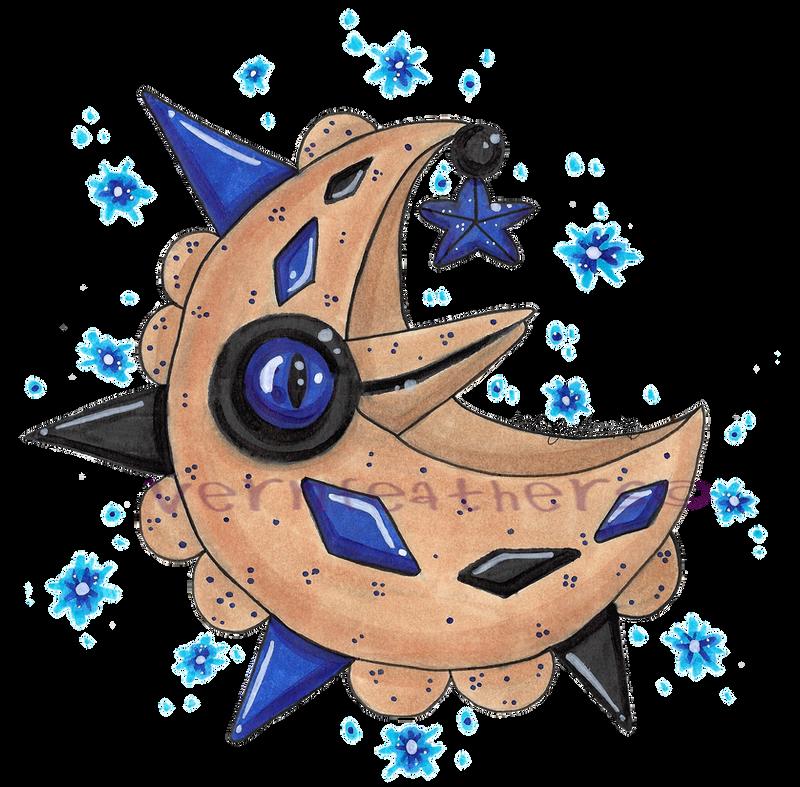 Mega Shiny Lunatone By Seraphvern On Deviantart