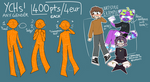 [OPEN] Small YCH dump !! -unlimited slots- by starpukee
