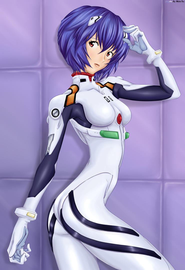 Rei Ayanami in Plugsuit by bardiel66