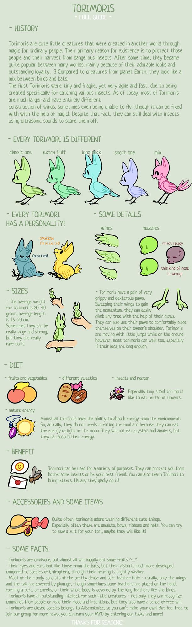 {Torimori} - Full guide, Species Info v.2