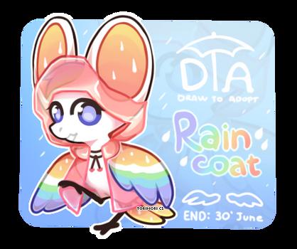 {OPEN} {Torimori DTA + MYO Raffle!} The Raincoat! by Alisenokmice