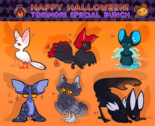 {closed} {Torimori} Happy Halloween toris! by Alisenokmice