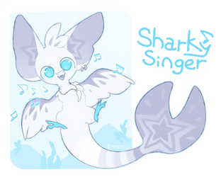 {closed} {Torimori Auction} Sharky Singer by Alisenokmice