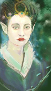 Geisha elf, elf geisha WIP 2