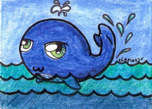 Chibi Whale ACEO
