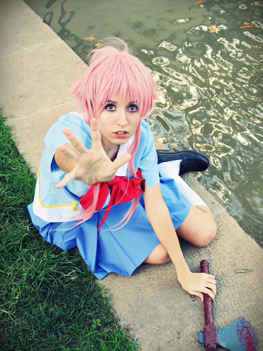 Don't left me here (Yuno Gasai, Mirai Nikki) by Doriri-chan