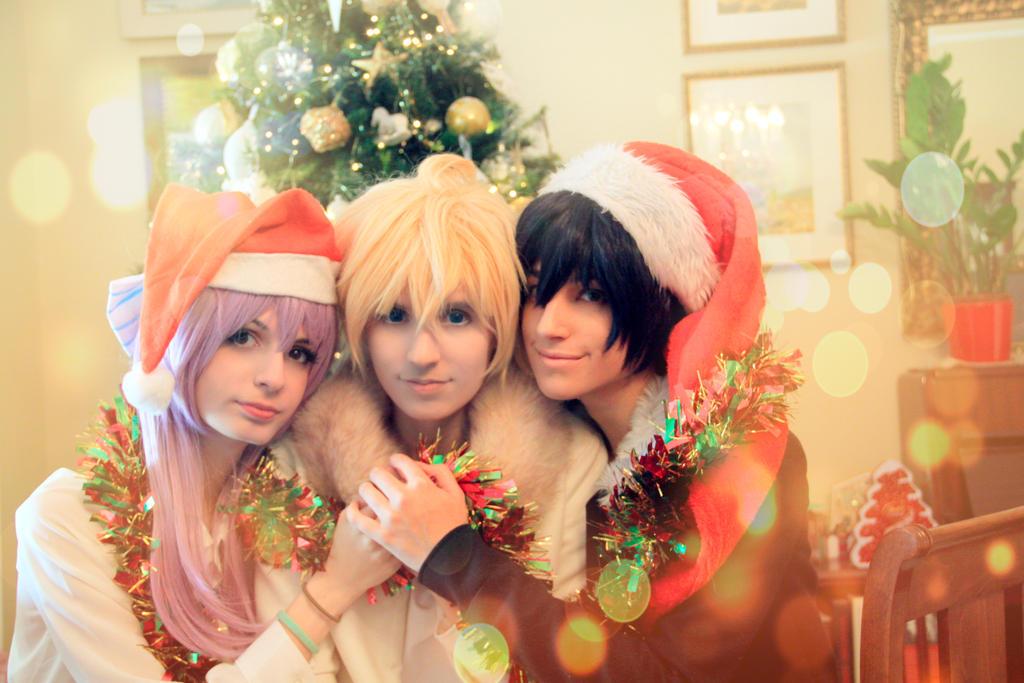 Mika, Yuu and Shinoa, Owari no Seraph (Christmas) by Doriri-chan