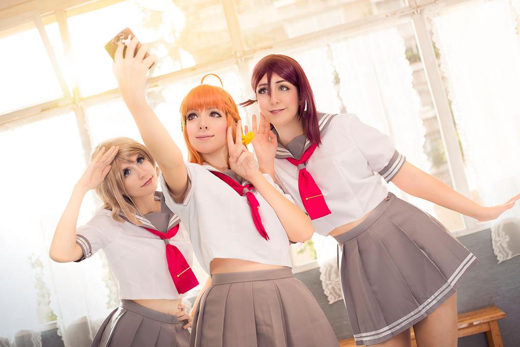You, Chika and Riko, Love Live! Sunshine by Doriri-chan