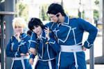 Roy, Riza and Hughes, FullMetal Alchemist by Doriri-chan