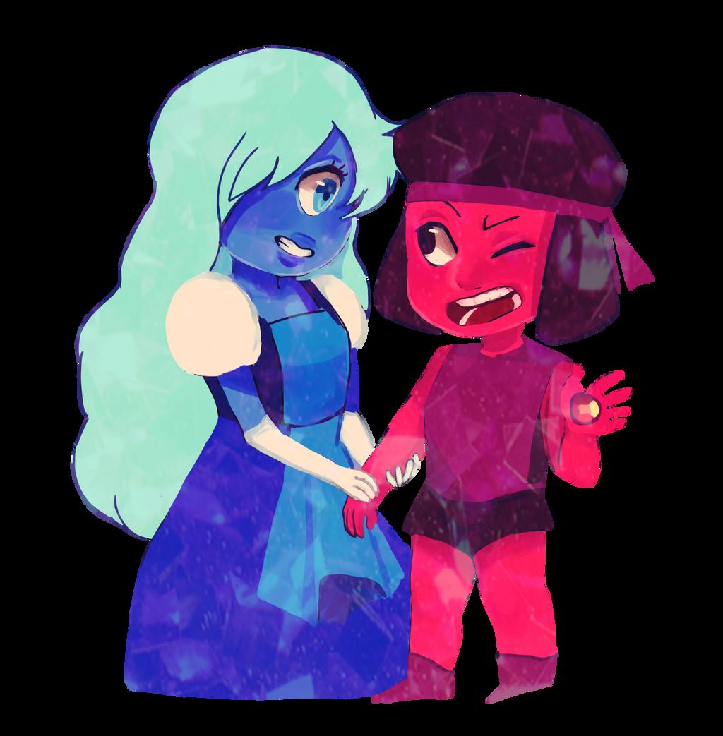 Steven Universe Sapphire Ruby Jocsaii Deviantart